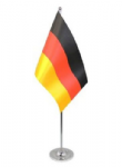 Germany Desk / Table Flag with chrome stand and base.
